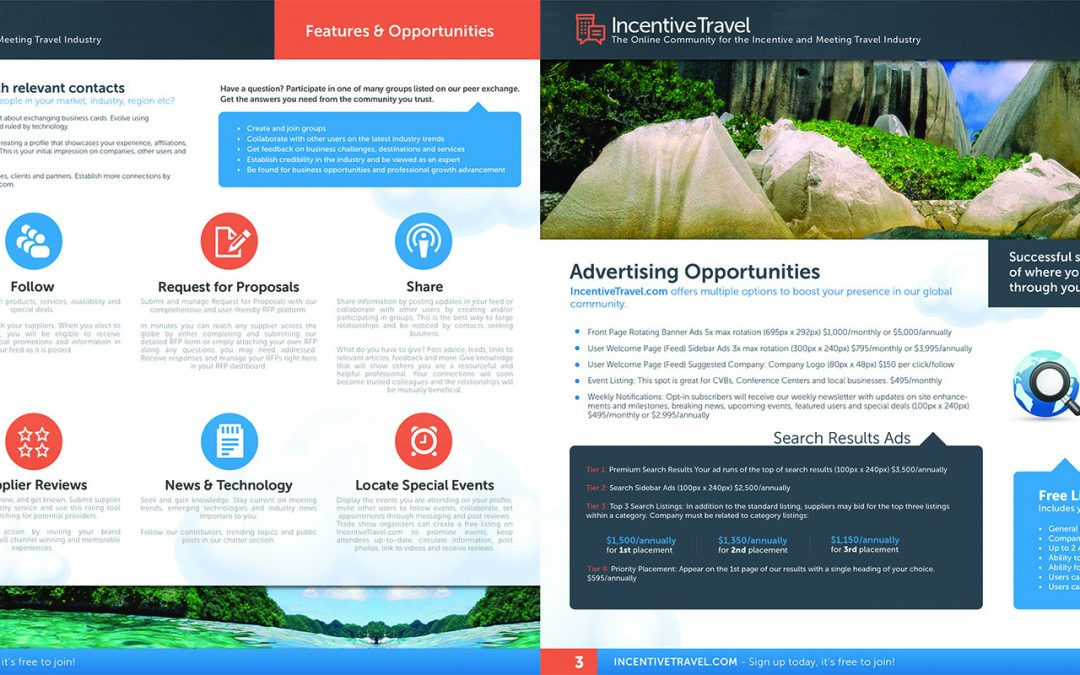 Incentive Travel Brochure