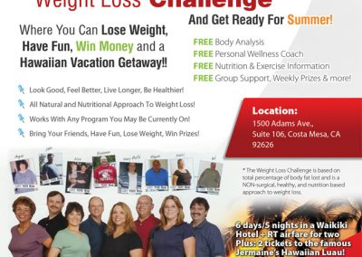 Weightloss Challenge Flyer