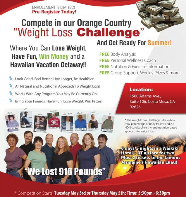 Weightloss Challenge Flyer